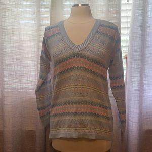 Vintage Liz Sport pastel v neck sweater
